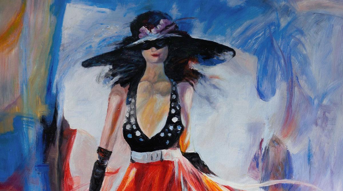 Kopie Vrouw met rode jurk