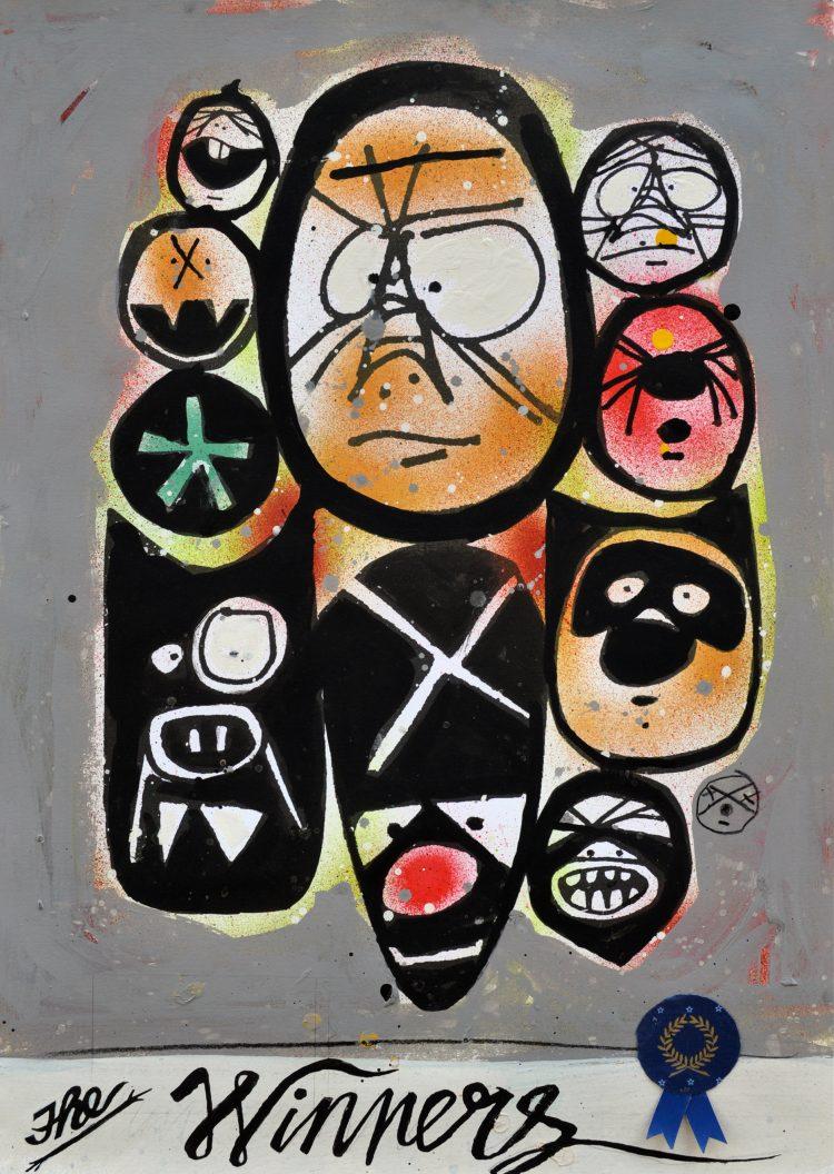 Frank – Kopie abstract schilderij