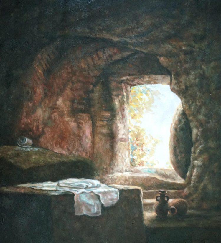 Kees – schilderij van een grot