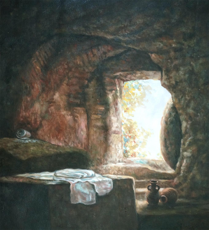 Maatwerk schilderij grot kopie