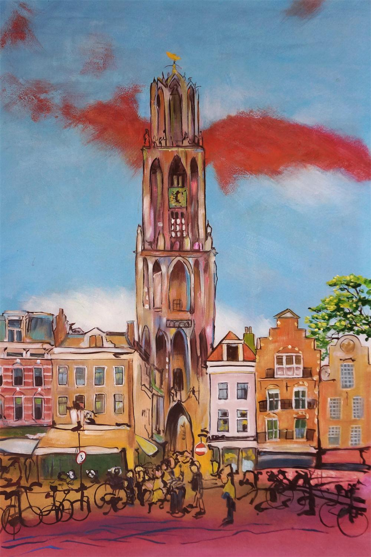 naschildering favoriete stad