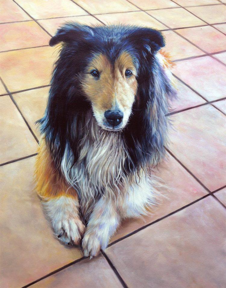 Davey – schilderij van je hond
