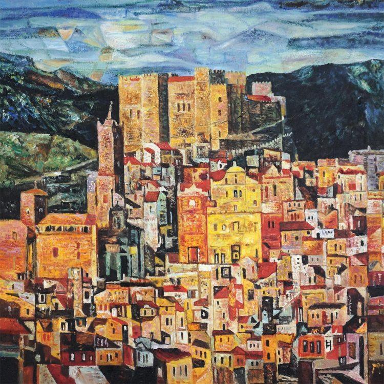Frans – naschildering vakantiedorp