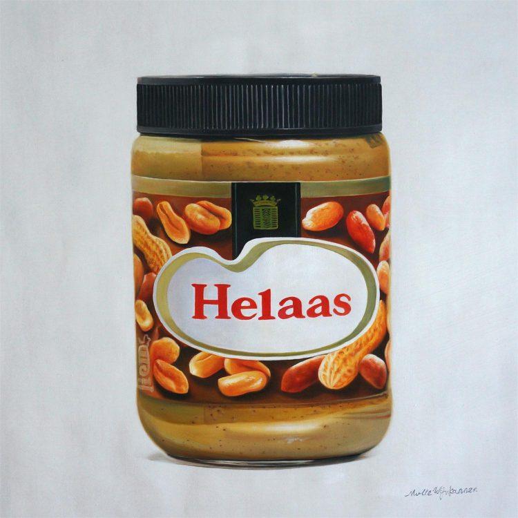 Jan Willem – schilderij helaas pindakaas