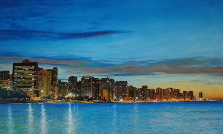 Michel – naschildering van skyline