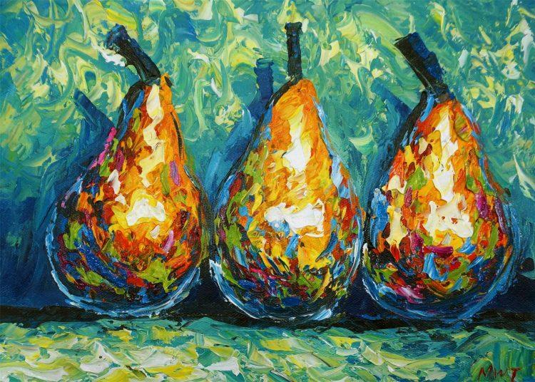Ronald – peertjes schilderij voor in de keuken