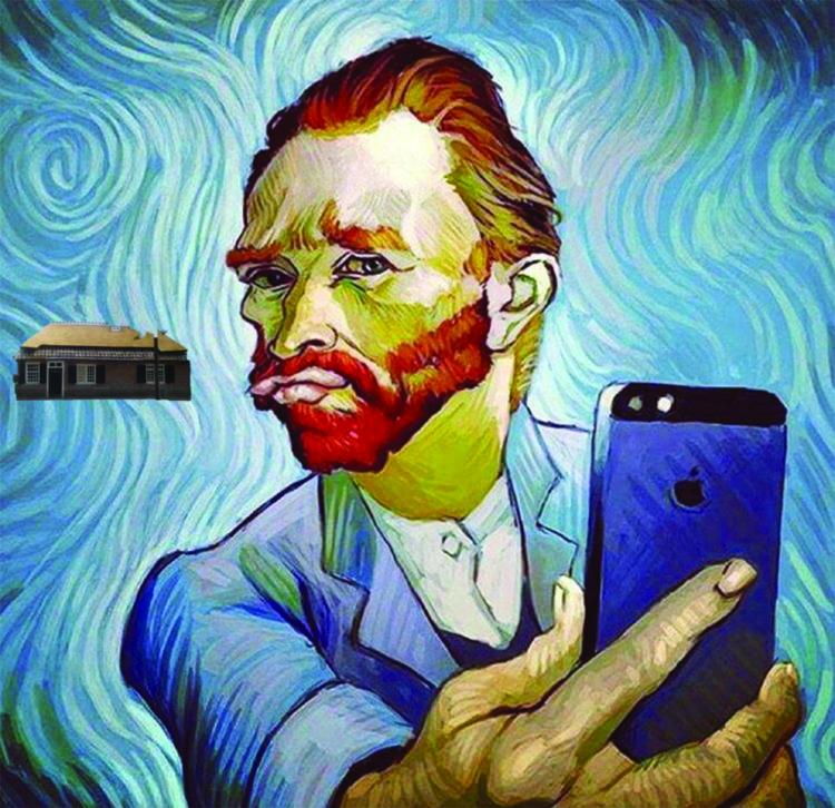 Arjan – selfie van Gogh