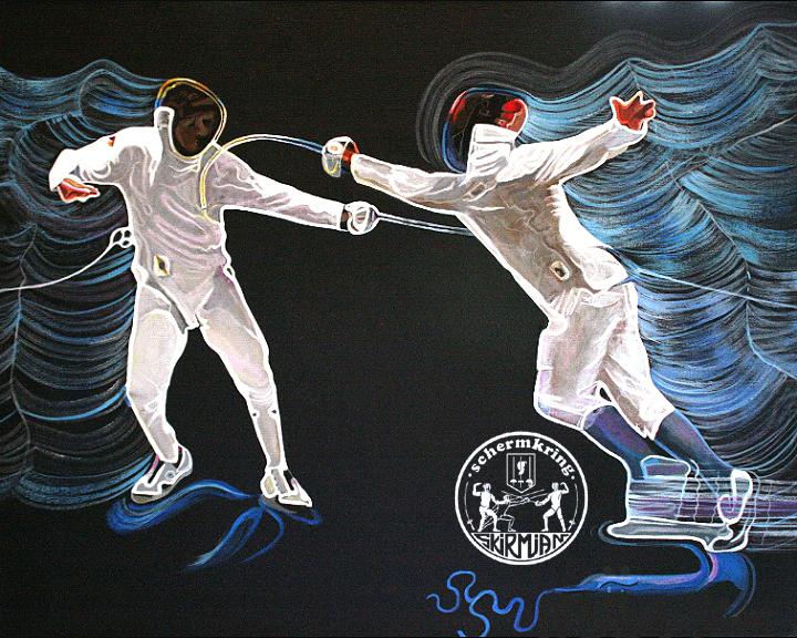 Van den Bergh – schilderij van de schermvereniging