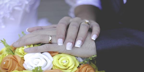 Schilderij van je trouwdag - de ringen
