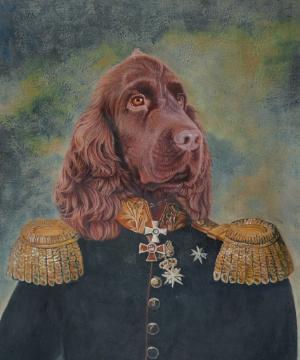 Persoonlijk schilderij - hond
