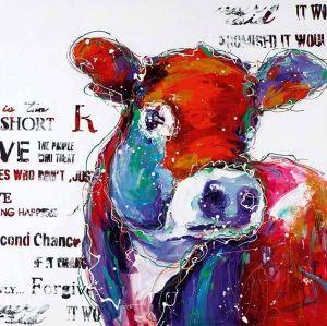schilderij op maat - koe