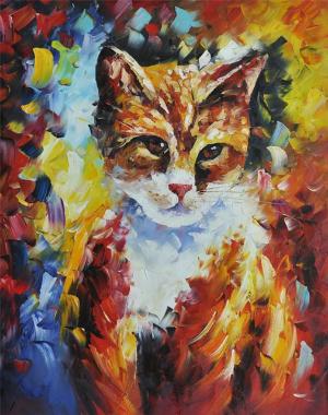Schilderij van je huisdier - poes
