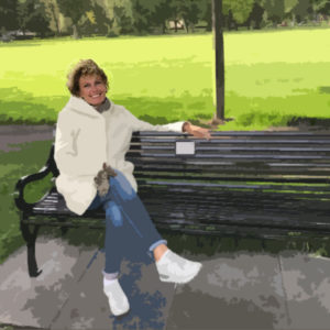 Angre – Bankje in het park