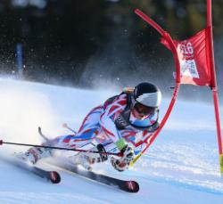 originele foto abstracte skier