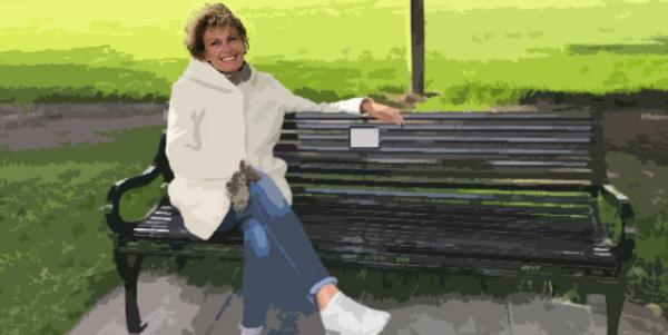 Favoriete plaats, bankje in het park