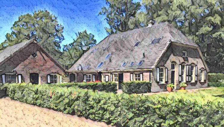 Sjors – schilderij van het ouderlijk huis