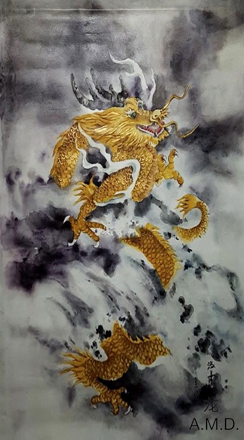 Alexander – schilderij van een draak (op rol)
