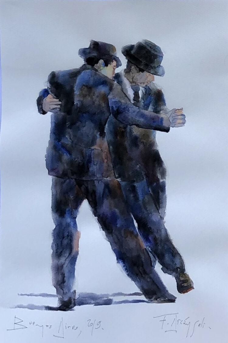 Vincent – schilderij dansende mannen
