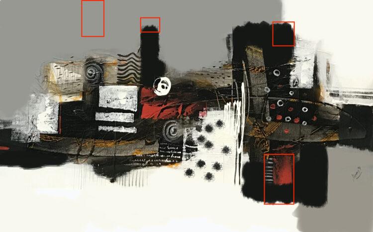 Schilderij op maat abstract kunstwerk