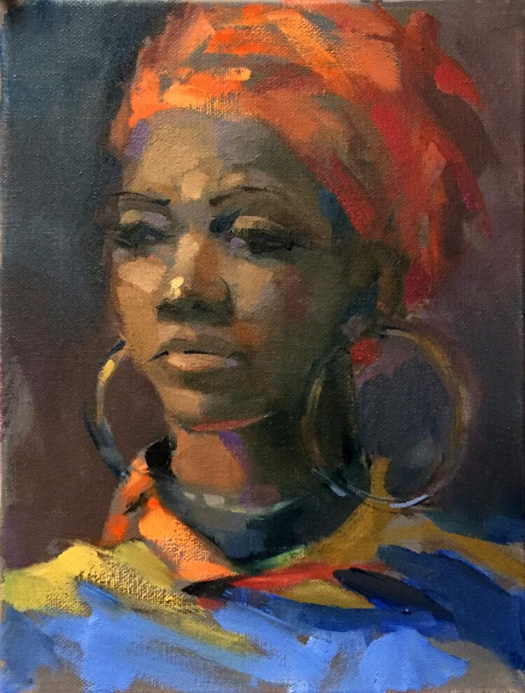 Kunstwerk op maat portret vrouw