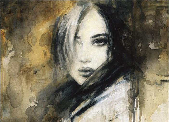 Marja – Girl loner als schilderij