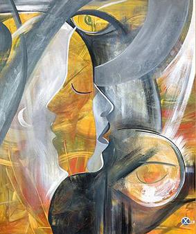 Abstracte portretten