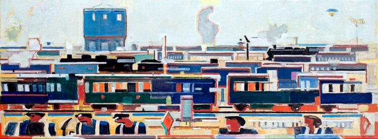 Willeke – treinen schilderij op maat