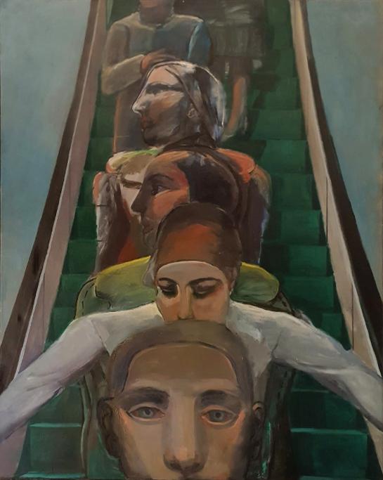 Jogchum – roltrap schilderij