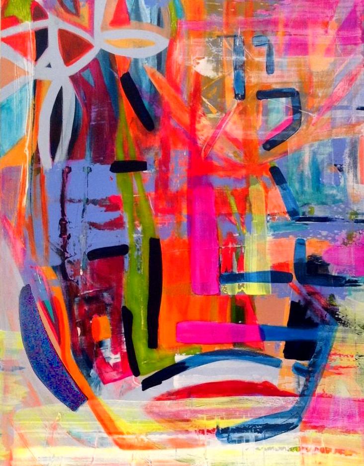Marrit- abstract schilderij (met lijst)
