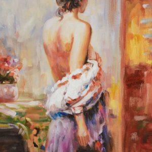 Alex – reproductie schilderij met vrouw (met lijst)